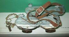 Vintage Antique Sears Roebuck & Co. JC Higgins Roller Skates w Key Leather strap