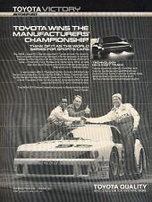 1988 Toyota Celica Camel GTO Race - Original Advertisement Print Art Car Ad J579