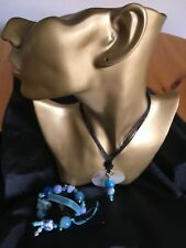 Shell Clay And Acrylic Bead Necklace With Matching Bracelet