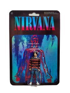 Nirvana - Kurt Cobain - custom action figure on foil card by Distraction figures