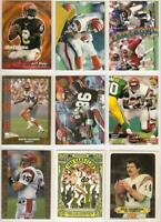 Bengals 101 card 1983-1995 insert lot-all different