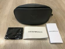 Emporio Armani Spectacle or Sunglasses Glasses Pouch Case - GREY (BRAND NEW)