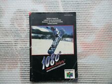 Notice Nintendo 64 / N64 Mode d'emploi 1080° snowboarding manual booklet *