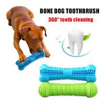 Dog Bone-shape Toothbrush Brushing Chew Toy Bone Brushing Stick Pet Molars Clean