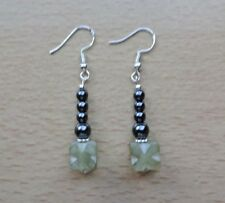Unusual SERPENTINE / HEMATITE  drop EAR RINGS St Silver Gift wrapped NOW REDUCED