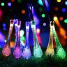 Brille Goutte D'eau Énergie Solaire Fée Fil Eclairage Extérieur Jardin Noël