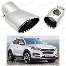 Silver Car Exhaust Muffler Tip Tail Pipe Trim for Hyundai Tucson 2016-2017 #2023