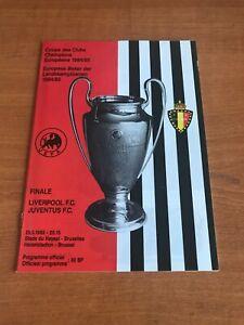 LIVERPOOL Vs JUVENTUS 1985 - European Cup Final Football Programme