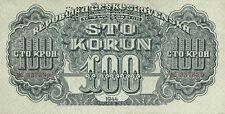 Tschechoslowakei 100 Kronen 1944 Pick 048s (1) Specimen