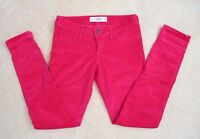 NEW Hollister Women Skinny Corduroy Pants Jeans Jeggings Size 1 Red Pants
