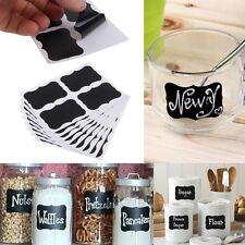 Useful 36x Chalk Black Board Tags Mason Jar Labels Stickers Chalkboard Kitchen