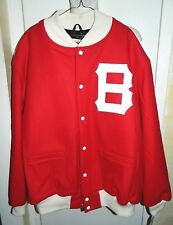 Boston Bees 1939 Wool Jacket Mitchell & Ness Cooperstown Collection Size 56 3XL