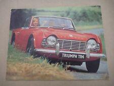 1960's TRIUMPH TR4 Catalogue Brochure Prospekt Dépliant English