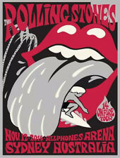 Rolling Stones # 17 - 8 x 10 T-shirt iron-on transfer Sydney concert poster