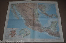 Mexico & Central America Map, 1956, 19� x 24�