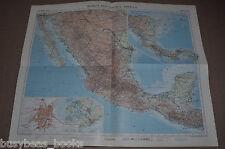 "MEXICO & CENTRAL AMERICA Map, 1956, 19"" x 24"""