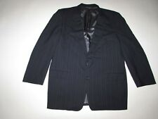Gieves & Hawkes Men's Suit Jacket Size 46 Long Navy Blue 100% Wool Bespoke 46L