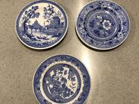 spode blue room collection Mini Plates Georgian Series Set Of Three