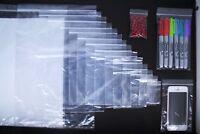 International Clear Self Press, Seal Resealable Polythene Zip Lock Plastic Bags