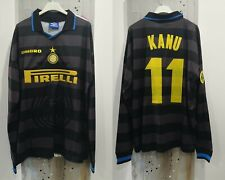 Maglia/shirt/camiseta Inter Milan Kanu Uefa 98 Umbro