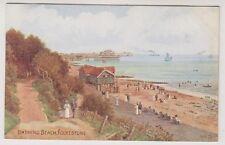 Kent postcard - Bathing Beach, Folkestone - ARQ No. 944