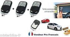 Pack 3 telecommande universelle Copieuse 433 MHZ Porte de Garage Portail Alarme