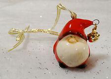 Cute Mini Ceramic Father Christmas Decoration Tree Hanging Santa Sleigh Bell
