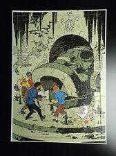 Rare Puzzle  du chèque Tintin  années 70 incomplet