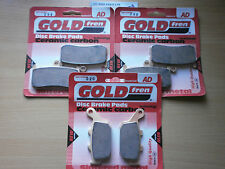 SINTERED FRONT & REAR BRAKE PADS (3x Sets) for: TRIUMPH DAYTONA 675 MONOBLOCK