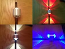 LED Wall light Ceiling light fitting 2x1w available in Blue,White and Red 9840