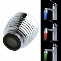 Temperature Sensor 3Color Kitchen Shower LED Faucet RGB Glow Light Water Tap US