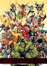 CHECKLIST / Marvel Greatest Heroes (2012) BASE Trading Card #01