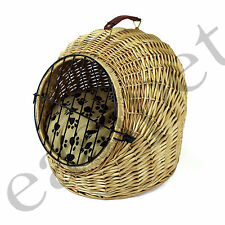 Wicker Cat Dog Kitten Puppy Small Pet Bed Carrier Travel Cushion Igloo Pod 578