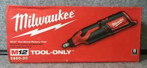 •Milwaukee 2460-20 M12 Li-Ion Rotary Tool Cordless 12V (Tool Only)