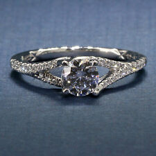 A Jaffe Pave Set Split Shank Engagement Ring ME2158Q for .75ct Round
