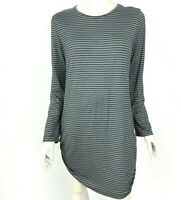 Comfy USA Striped Tunic Top Long Sleeve Stretch Scoop Neck Thin Womens XL