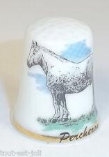 dé à coudre en porcelaine avec un cheval,percheron ,thimble  *08
