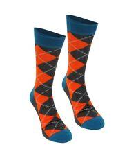 Gifts For Men HAPPY SOCKS Argyle Diamond Pair Mens Grey Orange Teal UK 7½-11½