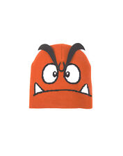 OFFICIAL NINTENDO SUPER MARIO BROS GOOMBA FACE COSTUME STYLE BEANIE HAT