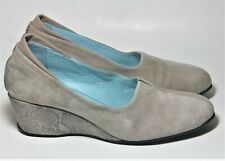 THIERRY RABOTIN SHOES BEIGE MULTI TONE LEATHER WEDGE PUMP 39.5 $450