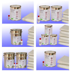 KOMPLETTPAKET GFK Polyesterharz Ortho Iso-NPG & Glasfasermatte GFK + Härter