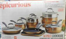 Epicurious 14-Piece Aluminum Cookware Set (Copper)