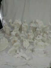 "Atlantic Vintage Nativity 21 pc set ready to paint 5"" to 7"" Ceramic Bisque"