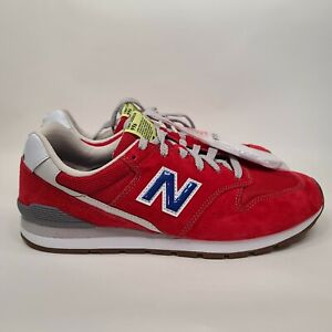 New Balance 996 Team Red with Atlantic CM997URR Men's Size 8 Red Grey Blue