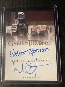 Complete Game of Thrones Dual Autograph Card Lena Headey & Hafþór Björnsson