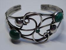 Modernist  Armband Silber Bracelet Malachit Armreif  Edelstein Design Nr.222