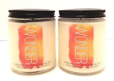 2 BATH & BODY WORKS WONDER PINEAPPLE MANGO SCENTED 1 WICK 7oz CANDLES 14oz TOTAL