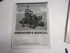 WHEEL HORSE 25O SERIES LAWN TRACTOR MOWER OPERATORS  MANUAL