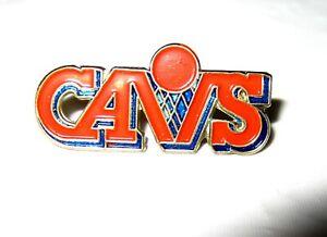 Vintage 1980s CAVS Lapel Pin Cleveland Cavaliers Old Logo Basketball Orange Blue