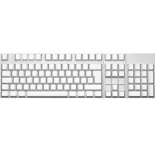 Max Keyboard ISO 105-key Cherry MX Replacement Keycap Set 6.25x (White / Blank)